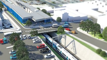 An artist's impression of the Heatherdale station underground project.