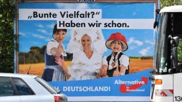 "An Alternative for Germany poster: ""Colourful variety? We have it already."""