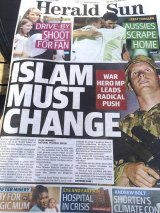 The Herald Sun front page from November 30 2015.