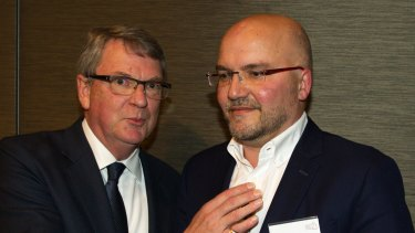 Lynton Crosby, left, and Mark Textor in 2015.