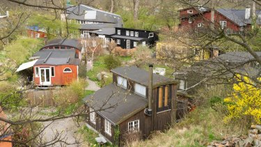 Homes in Christiania are often built on the principle of 'architecture without architects'.