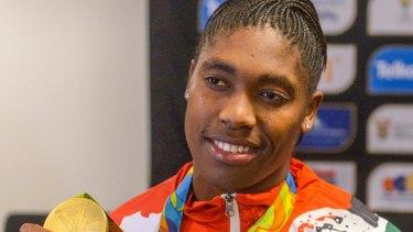 Olympic gold medallist  Caster Semenya.