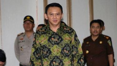 Former Jakarta governor Basuki ''Ahok'' Tjahaja Purnama.