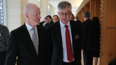 RBA Governor Glenn Stevens and Mr Parkinson at the National Reform Summit in Sydney on Wednesday.