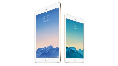 Apple's new iPad Air 2 and iPad Mini 3 side by side.
