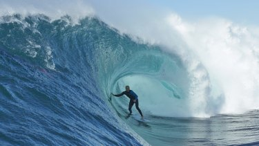 Surfer Mark Mathews in action.