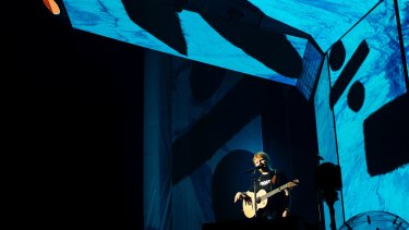 Ed Sheeran had no right to be as entertaining as he was, using only a guitar and a looping station.
