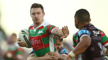 Back in: Damien Cook will return to the Rabbitohs side for their clash with the Sharks.