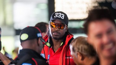 Chris Gayle during his time with the Renegades two summers ago.