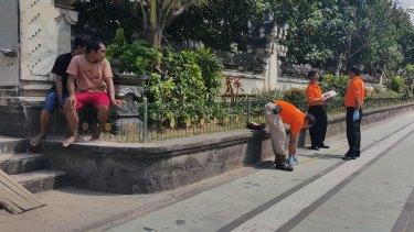 Police at the scene in Bali.