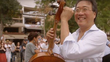 Yo-Yo Ma in The Music of Strangers, a film about a group of gifted musicians, the Silk Road Ensemble.