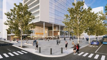 The proposed Victoria Cross station.   Sydney Metro - Victoria Cross Station.jpg