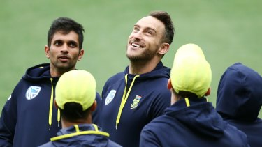 In the pink: Faf du Plessis has been cleared to play in the Adelaide day/night test match.