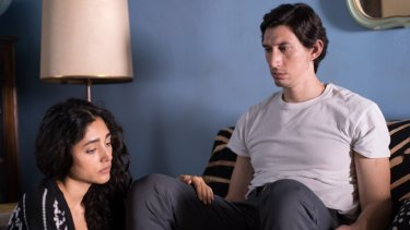Adam Driver and Golshifteh Farahani in <i>Paterson</i>.