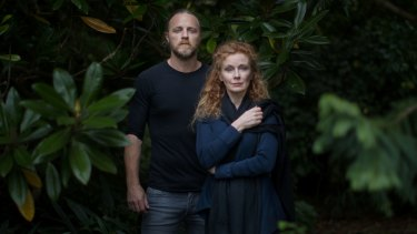 Nathaniel Dean and  Alison Whyte in the Botanic Gardens in the lead-up to their season of <i>Macbeth</i>.