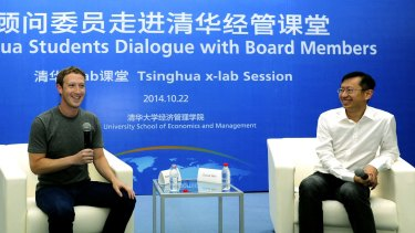 Mark Zuckerberg: Trying out his Mandarin.