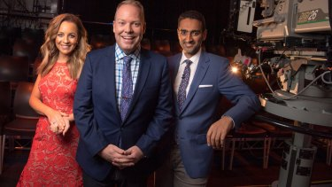 Carrie Bickmore, Peter Helliar and Waleed Aly host <i>The Project</i> on weeknights.