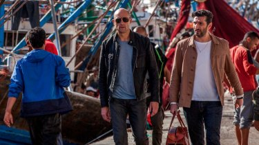 Mark Strong (centre) plays a retired M16 agent who is blackmailed back into action in <i>Deep State</I>.