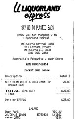 The drinks bill.