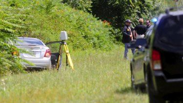 The car of suspected gunman Vester Flanagan, also known as Bryce Williams.