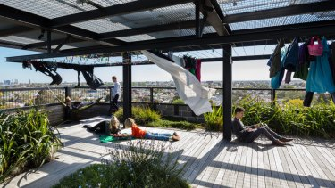 Communal spaces are a feature of The Commons project in Brunswick.