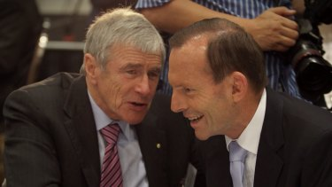 Kerry Stokes hosted Tony Abbott  in Broome on Saturday night.