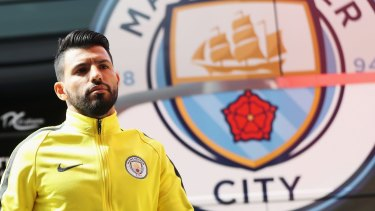 Manchester City striker Sergio Aguero will miss Saturday's home game due to a groin injury.