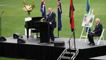 """Deputy Prime Minister Barnaby Joyce said Cuthbert was an """"icon""""."""