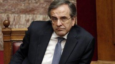 Snap election called: Greek Prime Minister Antonis Samaras.