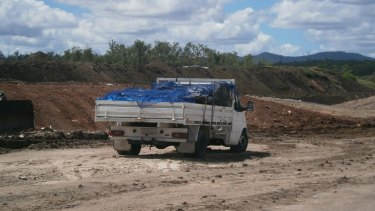 The Department of Environment and Heritage Protection is cracking down on unlicensed waste management operators. Pictured is unlicensed regulated waste asbestos transport.