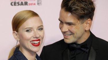 Scarlett Johansson and Romain Dauriac in happier times.
