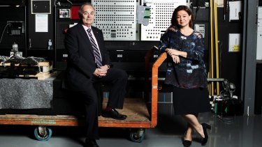ABC chairman James Spigelman and ABC managing director Michelle Guthrie.
