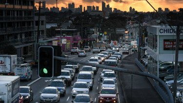Congestion on Parramatta Road has worsened since tolls were reintroduced to a section of the M4 motorway.
