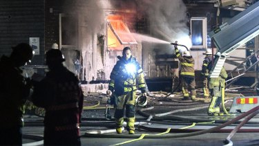 Not without problems. Fire at refugee accommodation south of Stockholm in 2016.