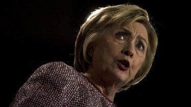 Democratic presidential candidate Hillary Clinton speaks in New York on Tuesday.