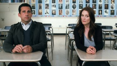 They're crazy: Steve Carrell and Julianne Moore in a scene from Crazy, Stupid, Love.