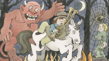 An illustration from the recently discovered Presto and Zesto in Limboland (detail), by Maurice Sendak and Arthur Yorinks.