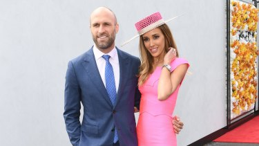 Chris and Rebecca Judd on Melbourne Cup day.