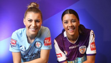 Matildas teammates Steph Catley and Sam Kerr will lead Melbourne City and Perth Glory, respectively, in the W-League.