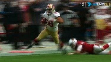Electrifying: Jarryd Hayne in action against the Cardinals.