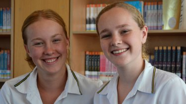 Students Lucy Kellaway (left) and Tess Webster are vice captains and year 12 students at Sydney's Ravenswood School for Girls.