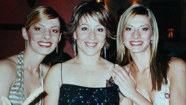 Murder victim Sevda Bayrak (centre) pictured with her sisters Semra and Havva.