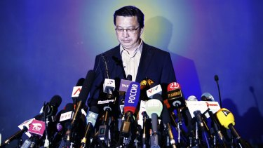 """""""I can only ascertain that it's plane debris"""": Malaysia's Transport Minister Liow Tiong Lai."""