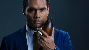 Rob Collins as Waruu West in the second season of ABC TV's <i>Cleverman</i>.