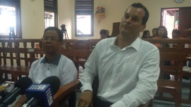 Balinese prosecutors have called for Thomas Harman (right) to be jailed for six months over the alleged theft of a pair of sunglasses.