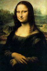Enigmatic gaze: The Mona Lisa.