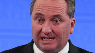 'It's not unreasonable that Bronwyn Bishop  will have someone help her drive' ... Barnaby Joyce.