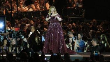 Adele in concert Etihad Stadium on Saturday night, March 18.