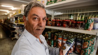 Jamil Makhoul  at his halal grocery shop in Coburg.