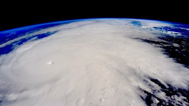An image taken by Scott Kelly from the International Space Station on Friday shows the Category 5 storm Hurricane Patricia from above.